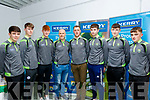 Munster minor champions 2019 medal presentation was at the Kerry GAA centre, Currans village, last Friday night, L-R  Ted Mahony, Duagh, Joe Lenihan, Churchill, James Darmody, Rathmore, James Costello, Kerry Minor Manager, Aiden O'Shea, selector, Ronan Collins, Gneeveguilla, Cahill Ryan, Rathmore and Enda O'Connor, Na Gaeil.
