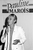 August 21, 1985 File Photo - Pauline Marois, Candidate in the Parti Quebecois leadership race.<br /> <br /> After two failed leadership runs in 1985 and 2005, Marois briefly left political life in 2006. A year later, she ran unopposed to become the seventh leader of the Parti QuÈbÈcois on June 26, 2007 and was elected Premier of Quebec Province, September 4, 2012.