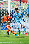 Jiangsu FC Defender Hong Jeongho (R) fights for the ball with Jeju United FC Midfielder Lee Chandong (L) during the AFC Champions League 2017 Group H match between Jeju United FC (KOR) vs Jiangsu FC (CHN) at the Jeju World Cup Stadium on 22 February 2017 in Jeju, South Korea. Photo by Marcio Rodrigo Machado / Power Sport Images