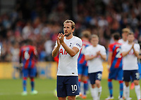 11th September 2021; Selhurst Park, Crystal Palace, London, England;  Premier League football, Crystal Palace versus Tottenham Hotspur: A disappointed Harry Kane of Tottenham Hotspur applauding the Spurs fans at full time