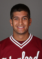 STANFORD, CA - NOVEMBER 11:  Sahil Bloom of the Stanford Cardinal during baseball picture day on November 11, 2009 in Stanford, California.