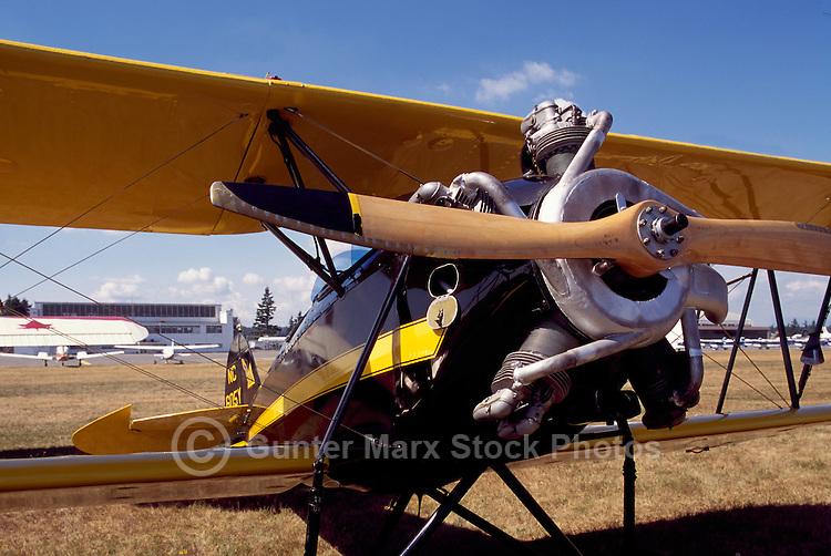 Waco INF 1930 Biplane on Static Display - at Abbotsford International Airshow, BC, British Columbia, Canada