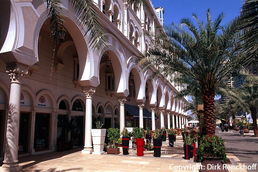 Vereinigte arabische Emirate (VAE, UAE), Sharja, Cafe Gerard am Kanal Qanat al Qasba