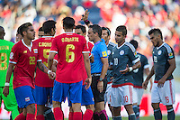 Orlando, Florida - Saturday, June 04, 2016: Patrico Loustau attempts to diffuse a dispute during a Group A Copa America Centenario match between Costa Rica and Paraguay at Camping World Stadium.