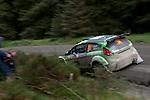 14th September 2012 - Devils Bridge - Mid Wales : WRC Wales Rally GB SS6 Myherin stage : Yazeed Al Rajhi (SAU) and Michael Orr (GB) in their Ford Fiesta S2000.