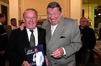 Bernard Landry (L), Claude Blanchard (R)<br /> book launch - lancement de sa biographie.<br /> <br /> Photo : (c) 2006 Images Distribution