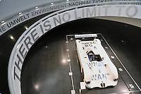 - Germany, Munich, historical museum of the BMW car factory at the company headquarters....- Germania, Monaco di Baviera, museo storico della fabbrica di automobili BMW presso la sede centrale della società