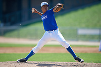 Pitcher Jean Hernandez (14) during the Dominican Prospect League Elite Underclass International Series, powered by Baseball Factory, on August 31, 2017 at Silver Cross Field in Joliet, Illinois.  (Mike Janes/Four Seam Images)