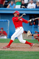 August 2, 2009:  Catcher Ivan Castro of the Batavia Muckdogs during a game at Dwyer Stadium in Batavia, NY.  The Muckdogs are the Short-Season Class-A affiliate of the St. Louis Cardinals.  Photo By Mike Janes/Four Seam Images