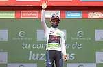 Egan Bernal (COL) Ineos Grenadiers retains the young riders White Jersey at the end of Stage 9 of La Vuelta d'Espana 2021, running 188km from Puerto Lumbreras to Alto de Velefique, Spain. 22nd August 2021.     <br /> Picture: Luis Angel Gomez/Photogomezsport   Cyclefile<br /> <br /> All photos usage must carry mandatory copyright credit (© Cyclefile   Luis Angel Gomez/Photogomezsport)