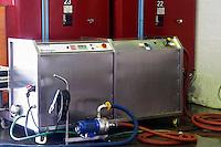 Reverse osmosis machine. Chateau Paloumey, Haut Medoc, Bordeaux, France.
