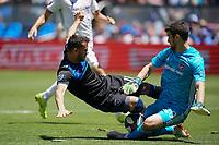 SAN JOSE, CA - JUNE 8: Vako #11, Jimmy Maurer #20 during a game between FC Dallas and San Jose Earthquakes at Avaya Stadium on June 8, 2019 in San Jose, California.