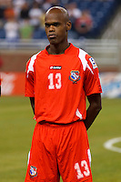 Panama defender Adolfo Machado (13) before the CONCACAF soccer match between Panama and Guadeloupe at Ford Field Detroit, Michigan.