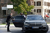 Actor Tom Cruise enters his car on the set of the film Mission Impossible 7 at Imperial Fora in Rome. <br /> Rome (Italy), October 13th 2020<br /> Photo Samantha Zucchi Insidefoto
