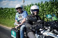 Carl Berteele (Sporza commentator) 'at work'<br /> <br /> stage 16: Morain-en-Montagne to Bern (SUI) / 209km<br /> 103rd Tour de France 2016