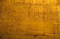 Tutankhamun's golden tomb at the Egyptian Museum in Cairo, Egypt.