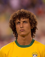 Brazil defender David Luiz (4). Brazil  defeated the US men's national team, 2-0, in a friendly at Meadowlands Stadium on August 10, 2010.