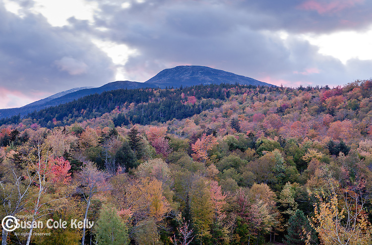 Sunset clouds on Mount Washington in the White Mountain National Forest, NH, USA