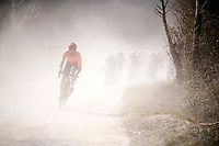 Guillaume VAN KEIRSBULCK (BEL/CCC) leading the way on the white dust roads of Tuscany<br /> <br /> 13th Strade Bianche 2019 (1.UWT)<br /> One day race from Siena to Siena (184km)<br /> <br /> ©kramon