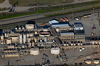 aerial photograph of  oil storage and processing in the San Ardo Oil Field, Monterey County, California
