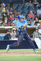 Nick Allen (10) of the West Team bats against the East Team during the Perfect Game All American Classic at Petco Park on August 14, 2016 in San Diego, California. West Team defeated the East Team, 13-0. (Larry Goren/Four Seam Images)
