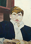 Hilary Sheppard Lower Sixth form. Painting by HWS age 17yrs Sidcot School. Somerset. Art master Mr James Bradley 1966.