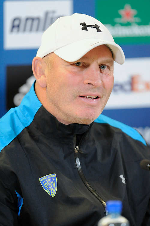 Vern Cotter, ASM Clermont Auvergne Head Coach, at the Captain's Run press conference before the Heineken Cup Final at the Aviva Stadium, Dublin on Friday 17th May 2013 (Photo by Rob Munro).