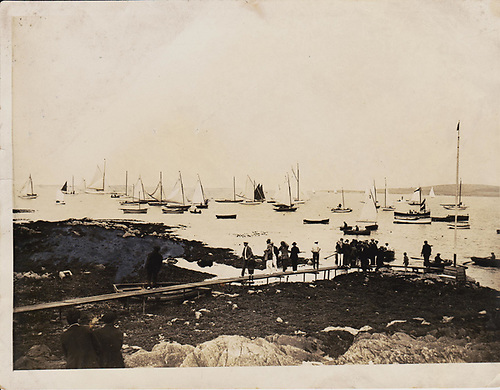 Ballyholme Yacht Club jetty in the early days of the club