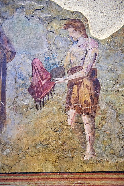 Roman fresco wall decorations from Villas of Rome. Museo Nazionale Romano ( National Roman Museum), Rome, Italy.