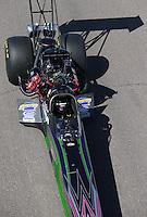 Feb. 23, 2013; Chandler, AZ, USA; NHRA top fuel dragster driver Leah Pruett during qualifying for the Arizona Nationals at Firebird International Raceway. Mandatory Credit: Mark J. Rebilas-
