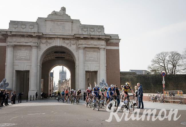 riders passing through the Menin Gate War Memorial<br /> <br /> 81st Gent-Wevelgem 'in Flanders Fields' 2019<br /> One day race (1.UWT) from Deinze to Wevelgem (BEL/251km)<br /> <br /> ©kramon