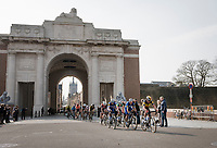 riders passing through the Menin Gate War Memorial<br /> <br /> 81st Gent-Wevelgem 'in Flanders Fields' 2019<br /> One day race (1.UWT) from Deinze to Wevelgem (BEL/251km)<br /> <br /> ©kramon