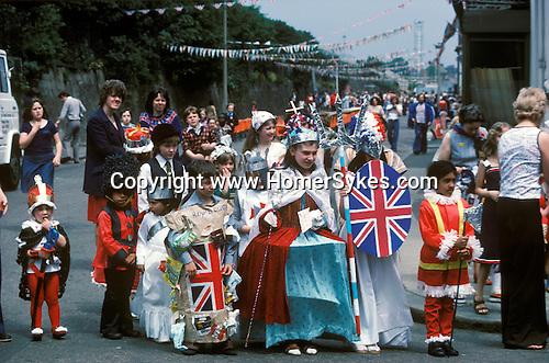Queen Elizabeth's Silver Jubilee  celebration street party Podmore Street, Wandsworth, South London 1977 England