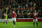 © Joel Goodman - 07973 332324 . 14/11/2015 . Manchester , UK . FC United players leave the pitch after losing the match . FC United host Gainsborough Trinity in the National League North at Broadhurst Park . NB requested changing room access three times and was denied three times . Photo credit : Joel Goodman