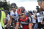 Defending Champion Cadel Evans (AUS) BMC Racing Team at the end of Stage 1 of the 99th edition of the Tour de France, running 198km from Liege to Seraing, Belgium. 1st July 2012.<br /> (Photo by Eoin Clarke/NEWSFILE)