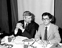 June 1st,1985 File Photo - Alliance-Quebec convention - Pierre-Marc Johnson, Victor Goldbloom