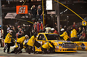 NASCAR Camping World Truck Series <br /> Lucas Oil 150<br /> Phoenix Raceway, Avondale, AZ USA<br /> Friday 10 November 2017<br /> Todd Gilliland, Pedigree Toyota Tundra makes a pit stop, Sunoco<br /> World Copyright: Logan Whitton<br /> LAT Images
