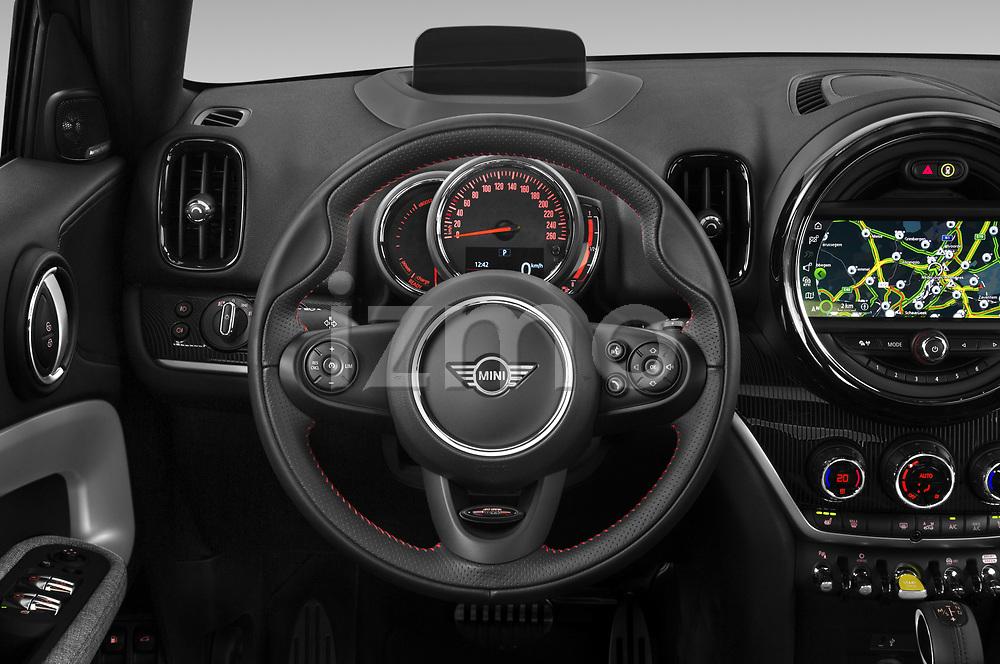 Car pictures of steering wheel view of a 2020 MINI Countryman Cooper-SE-JCW 5 Door SUV Steering Wheel
