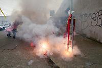 Fireworks, Chinese Lunar New Year, Chinatown, Seattle, WA, USA.