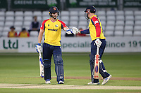 Jimmy Neesham (L) and Simon Harmer in batting action for Essex during Essex Eagles vs Hampshire Hawks, Vitality Blast T20 Cricket at The Cloudfm County Ground on 11th June 2021