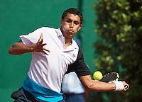 10-07-13, Netherlands, Scheveningen,  Mets, Tennis, Sport1 Open, day three, Thiago Monteiro (BRA)<br /> <br /> <br /> Photo: Henk Koster