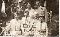 BNPS.co.uk (01202 558833)<br /> Pic: Sotheby's/BNPS<br /> <br /> Pictured: Oppenheimer family Portrait, taken in the mid-1930s Bottom row (L to R) Margarethe Oppenheimer, Karl (later Charles), Francis Herzberg, Dr Franz Oppenheimer, Hans (later John) Peter Herzbeg<br /> <br /> A £2m collection of Meissen porcelain that was seized by the Nazis before it was discovered by the Allied 'Monuments Men' at the end of the war is coming up for sale.<br /> <br /> The stunning hoard of Dresden antiques was acquired by industrialist Dr Franz Oppenheimer and his wife Margarethe during the 1920s and 30s'.<br /> <br /> The Jewish couple fled their home in Berlin as the Nazis began persecuting Jewish people in Germany.<br /> <br /> They emigrated to the US but not before they sold off their fabulous figurines and ornaments for bargain prices to stop them falling into the hands of the Nazi