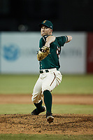 Greensboro Grasshoppers relief pitcher Will Kobos (49) in action against the Hickory Crawdads at First National Bank Field on May 6, 2021 in Greensboro, North Carolina. (Brian Westerholt/Four Seam Images)