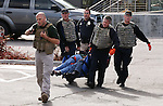 Multiple Carson City area agencies train in an armed assailant drill at the Carson City Courthouse in Carson City, Nev., on Saturday, Nov. 15, 2014.<br /> Photo by Cathleen Allison