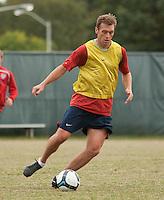 Jimmy Conrad. U.S. Men's National Team training at RFK Stadium  Monday October 12, 2009  in Washington, D.C.