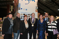 NO FEE PICTURES.25/1/13 Maureen Ledwith, Director Holiday World, Lord Mayor of Dublin is Naoise Ó Muirí and Clare Dunne, President ITAA with Egidia Grieco, Francesco Bracci, Domenica Genchi and Massimo Ponilio at the Holiday World Show at the RDS, Dublin. Picture:Arthur Carron/Collins