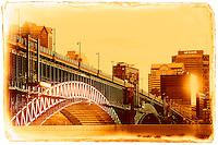 The Eads Bridge in St. Louis, Missouri