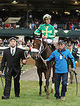 October 18, 2014: Taris and jockey Clinton Potts win the 16th running of The Lexus Raven Run Grade 2 $250,000 at Keeneland for owner Commonwealth New Era Racing (Todd Mostoller) and trainer Todd Beattie.  Candice Chavez/ESW/CSM