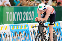 29th August 2021; Tokyo, Japan; George Peasgood (GBR), <br /> Triathlon : Men's PTS5<br /> during the Tokyo 2020 Paralympic Games at the Odaiba Marine Park in Tokyo, Japan