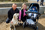 Enjoying a coffee and a stroll on Banna beach on Easter Sunday, l to r: Colm, Trish and Sean Lawlor with Lady the dog.